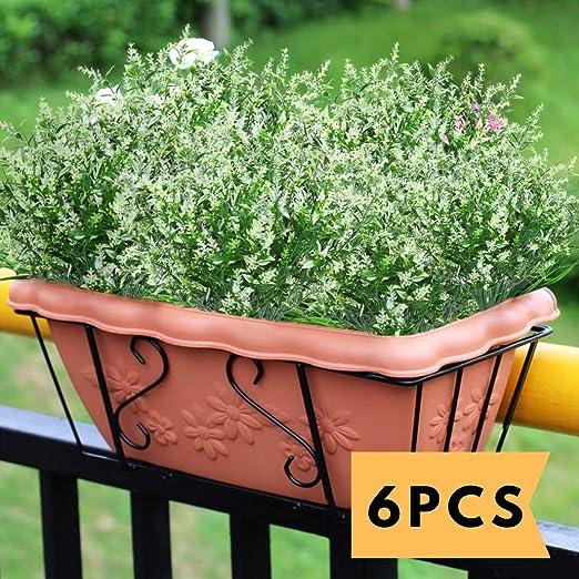 Amazon Com Artificial Lavender Outdoor Plants 6pcs Uv Resistant