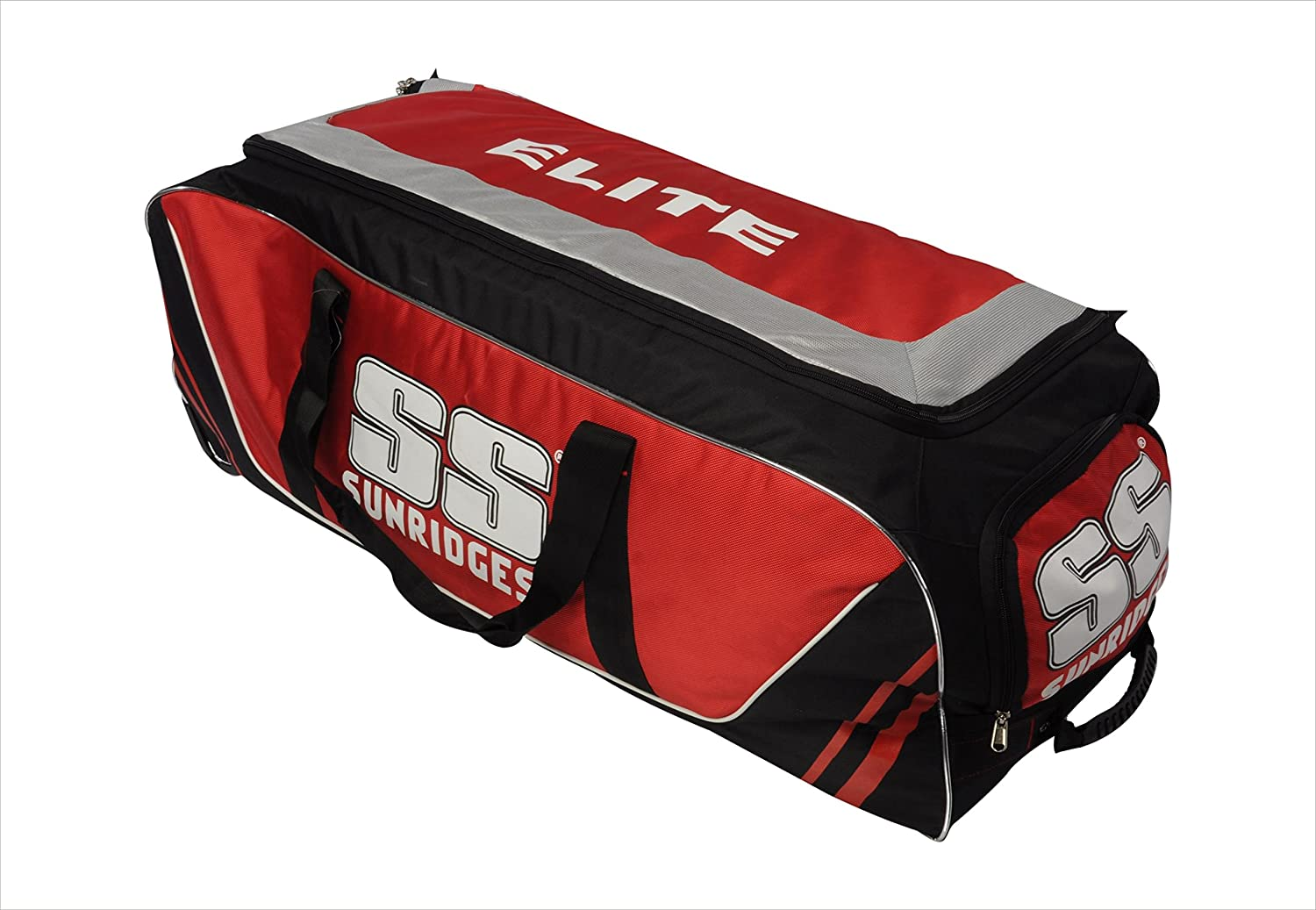 Buy SS Elite Wheel Cricket Kit Bag (Red Black) Online at Low Prices in  India - Amazon.in aec5b6d619189
