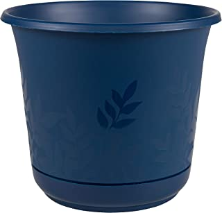 "product image for Bloem Freesia Planter w/Saucer, 8"", Deep Sea (FP0831), 8"""