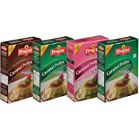 Five Star Caramel Pudding Chocolate, Strawberry and Vanilla - 100g Each (Pack of 4)