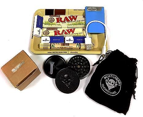 Set de regalo para fumador de la marca RAW con mini bandeja, bandeja orgánica,