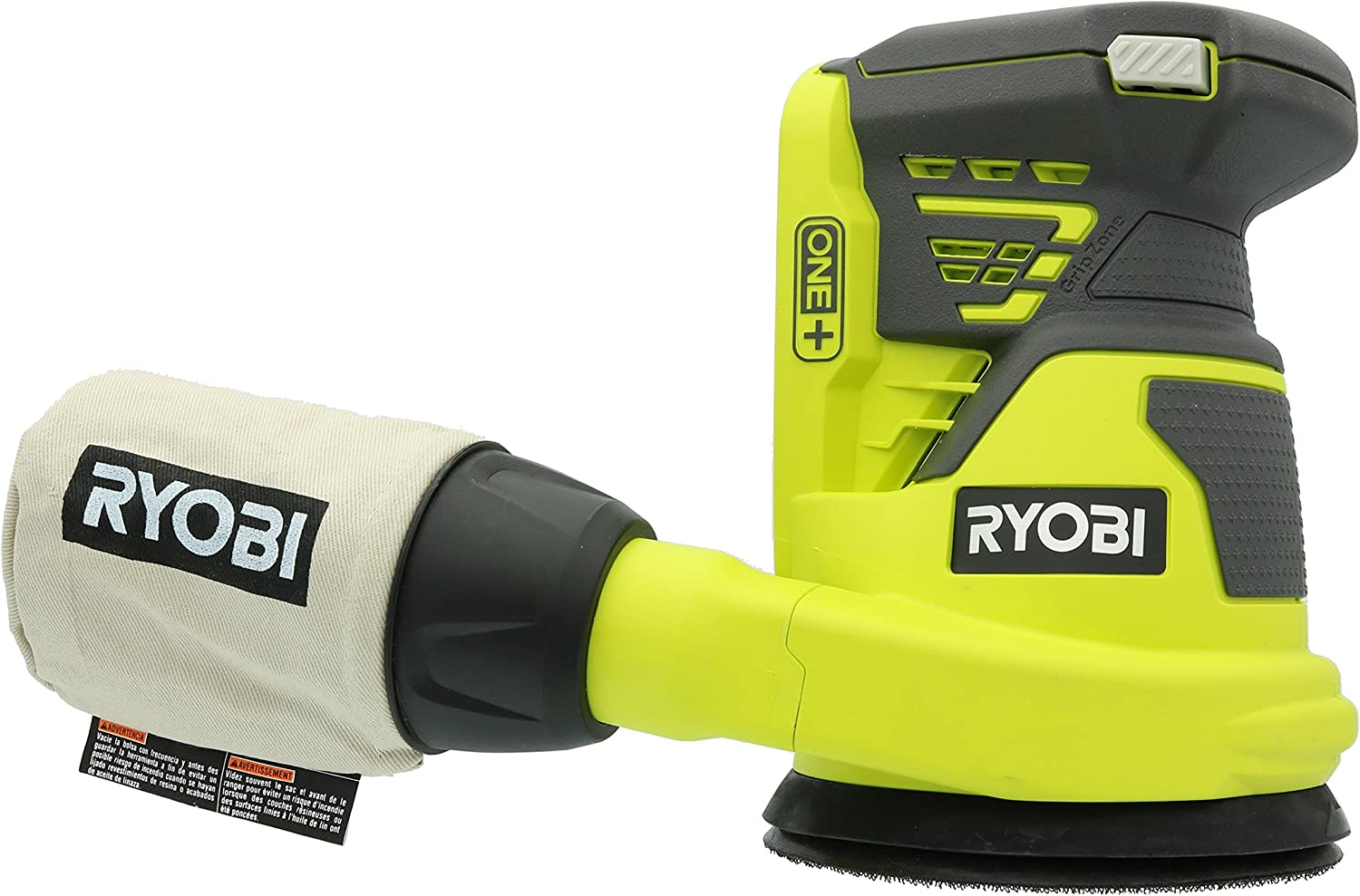 Ryobi P411 One 18 Volt 5 Inch Cordless Battery Operated Random Orbit Power Sander Battery Not Included Power Tool Only