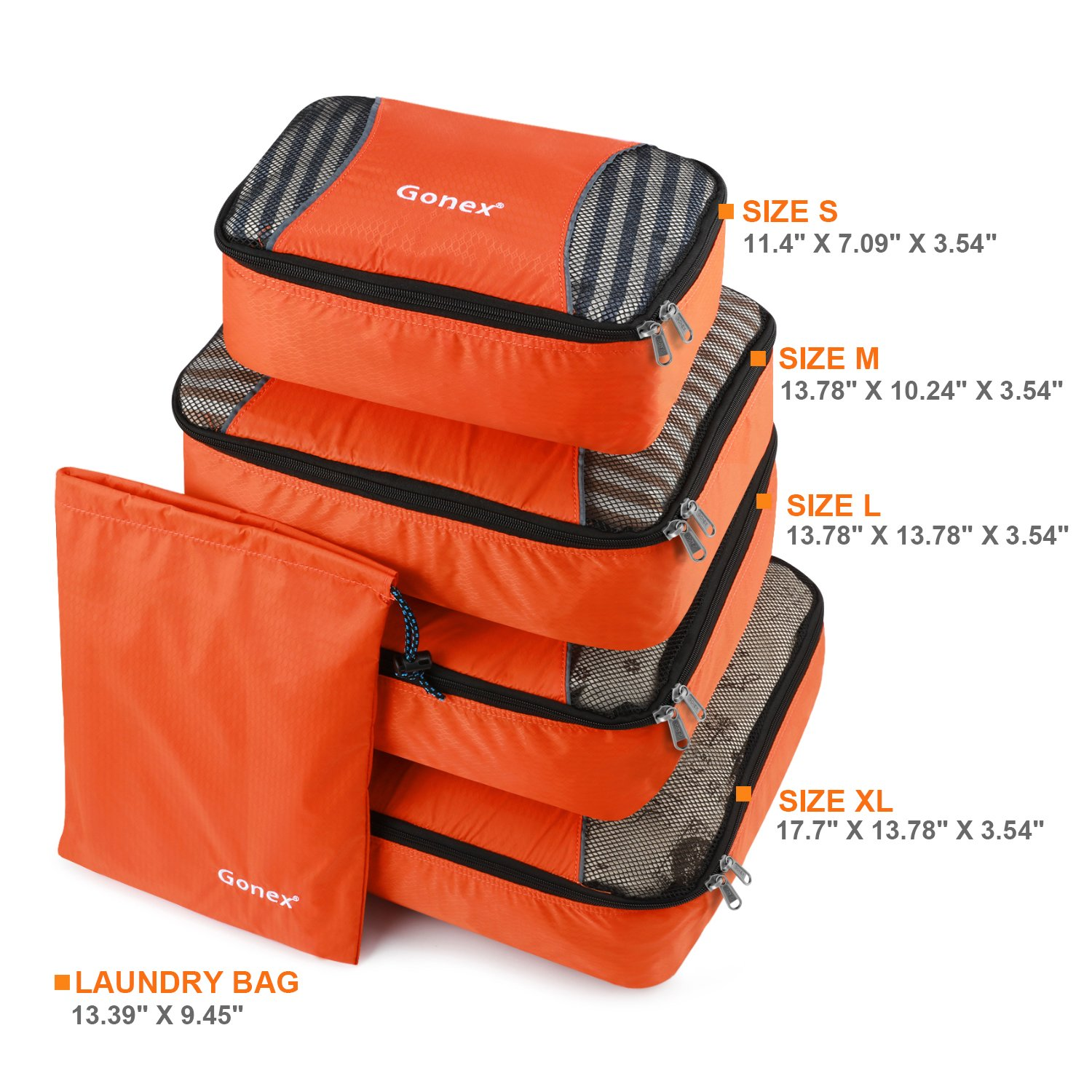 a5bef26f4955 Gonex Packing Cubes Travel Luggage Organizer with Shoe Bag (Deep ...