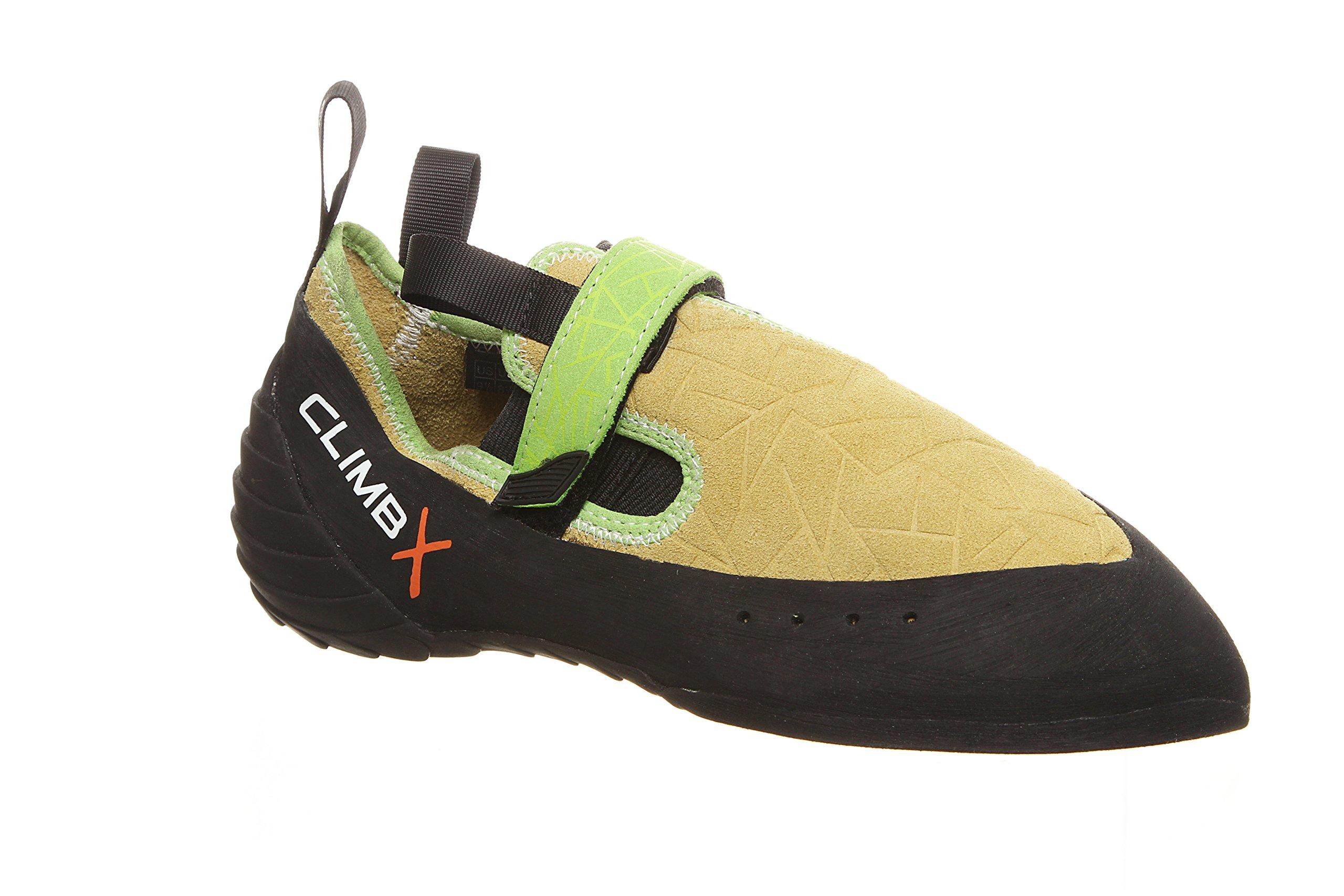 Climb X Zion Climbing Shoe with Free Sickle M-16 Climbing Brush (Men's 5.5, Yellow)