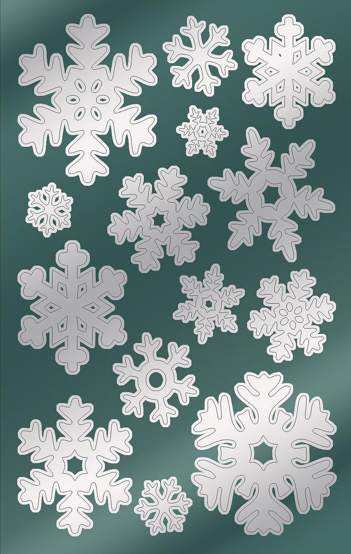 Avery 52813 pegatinas de Navidad, estrellas, papel satinado, 2 hojas, 28 pegatinas, plata Avery Zweckform