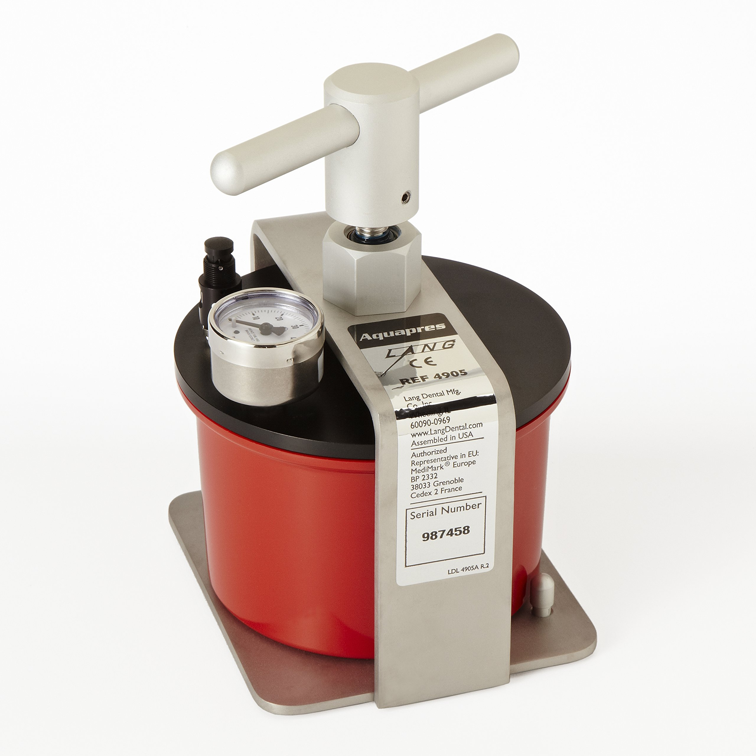 LANG - Aquapres Hydraulic Pressure Curing Unit for Processing self Curing Acrylic resins - # 4905A 114112 Us Dental Depot