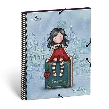 Gorjuss 20808049920 - Carpeta clasificadora, color rojo: Amazon.es: Oficina y papelería