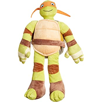 Nickelodeon Teenage Mutant Ninja Turtles Plush Stuffed Michelangelo Pillow Buddy - Kids Super Soft Polyester Microfiber, 24 inch (Official Product)