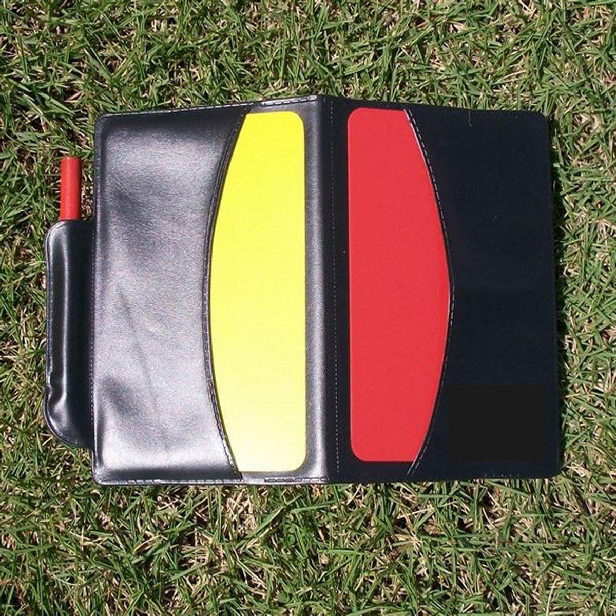 VORCOOL Fischio dellallenatore del metallo della carta gialla del cartellino rosso della carta di arbitro del cartellino rosso per calcio di calcio