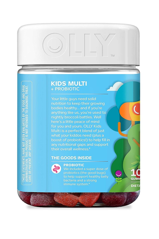 Amazon.com: OLLY Kids Multi + Probiotic Gummy Multivitamin, 50 Day Supply (100 Gummies), Yum Berry Punch, Vitamins A, C, D, E, B, Zinc, Probiotics, ...