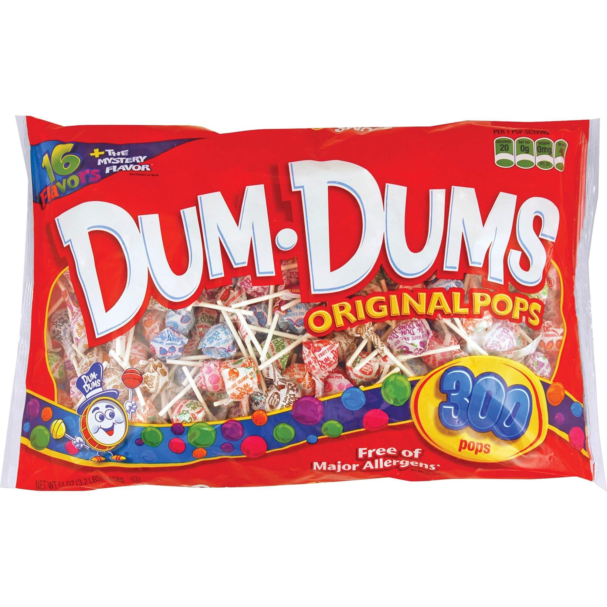 DUM DUMS Lollipops, Variety Flavor Mix, 300 Count Bag
