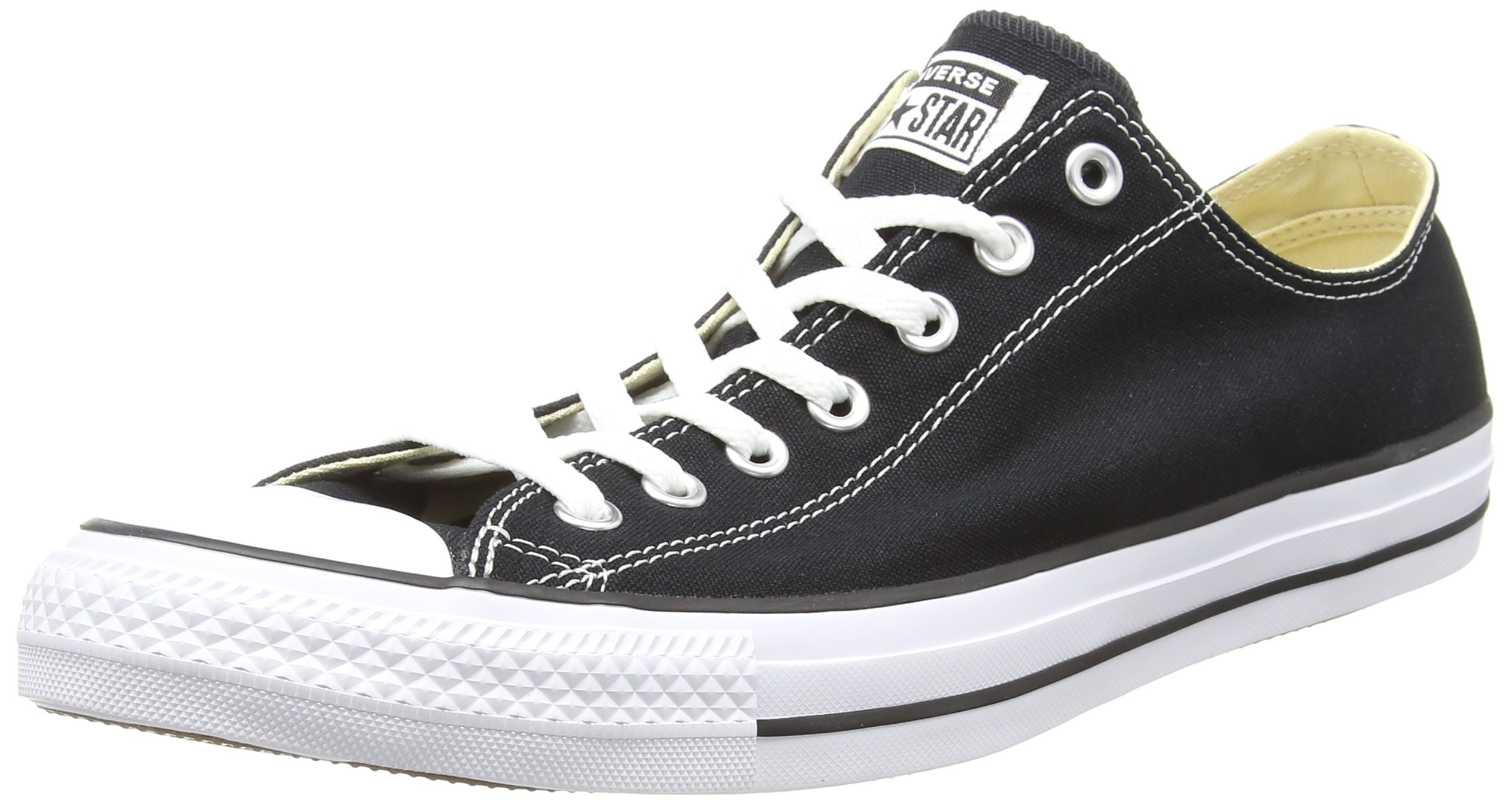 Converse Unisex Chuck Taylor All Star Ox Canvas Sneakers (13.5 B(M) US Women / 11.5 D(M) US Men, Black)
