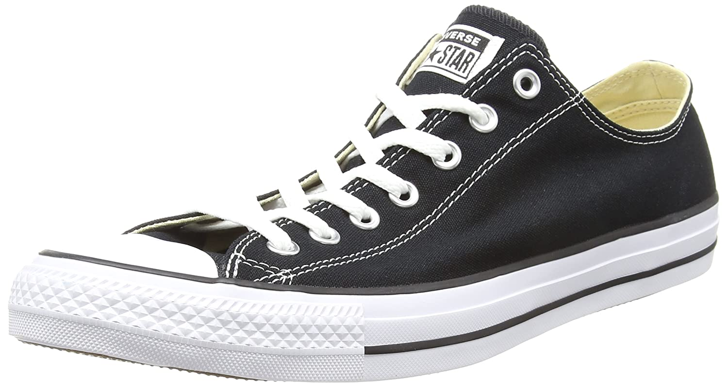 Converse Unisex Classic Chuck Taylor All Star Low Top Sneakers B01MUADLLD 8 D(M)|Black