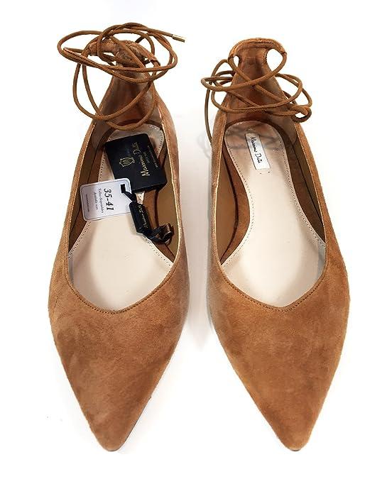 bc516a8d9e8 Massimo Dutti Women s Multi-strap leather ballerinas 1681 221 (38 EU