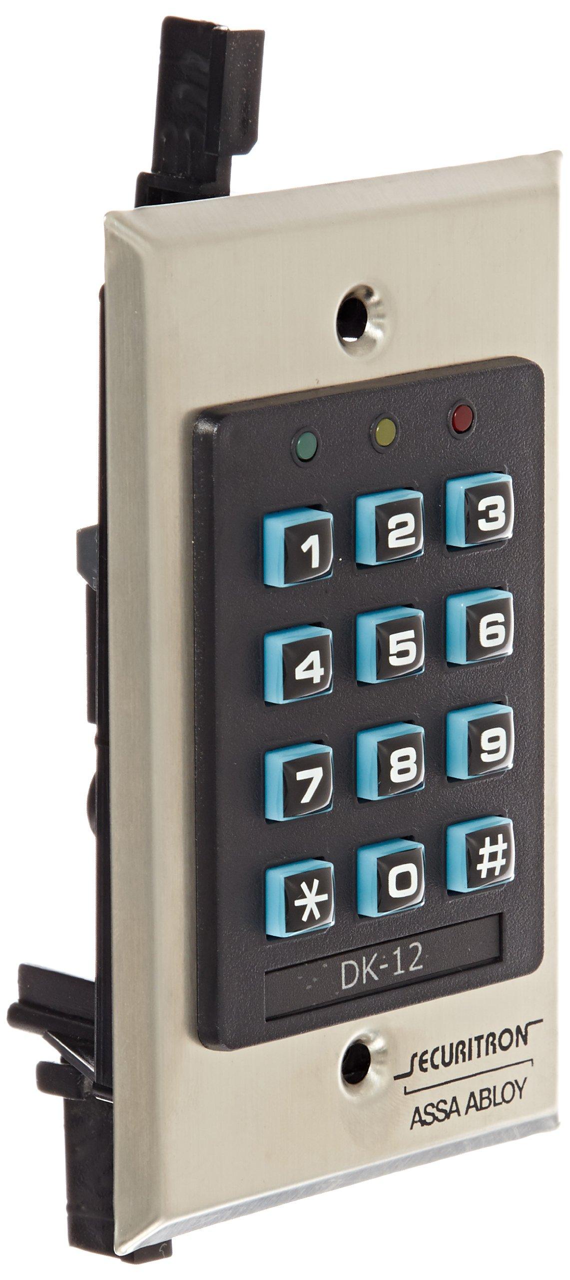 Securitron Single Gang Digital Keypad System with Illuminated Keys, 99 User Code Capability by Securitron