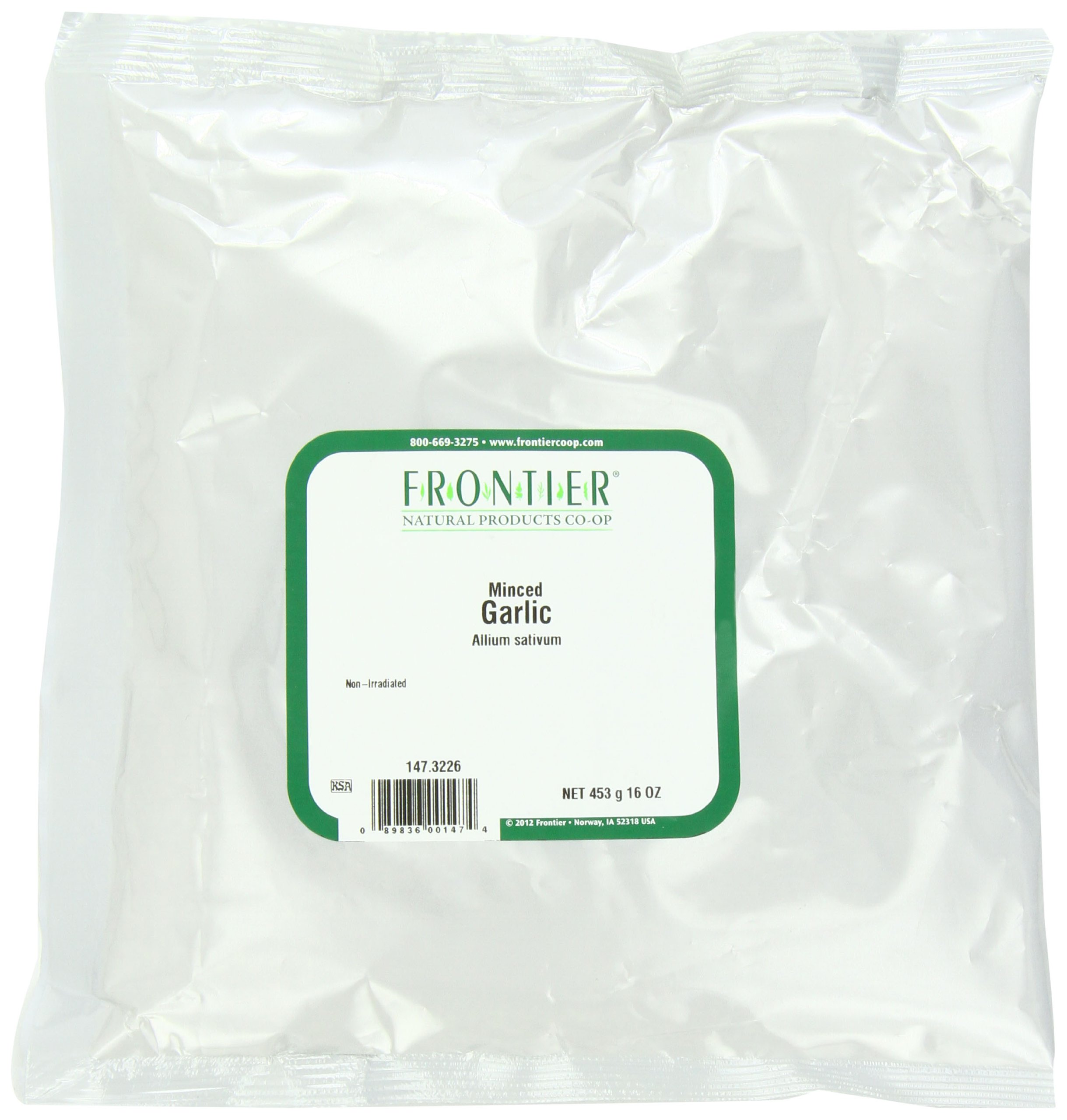 Frontier Minced Garlic,16 Ounce Bags (Pack of 2)
