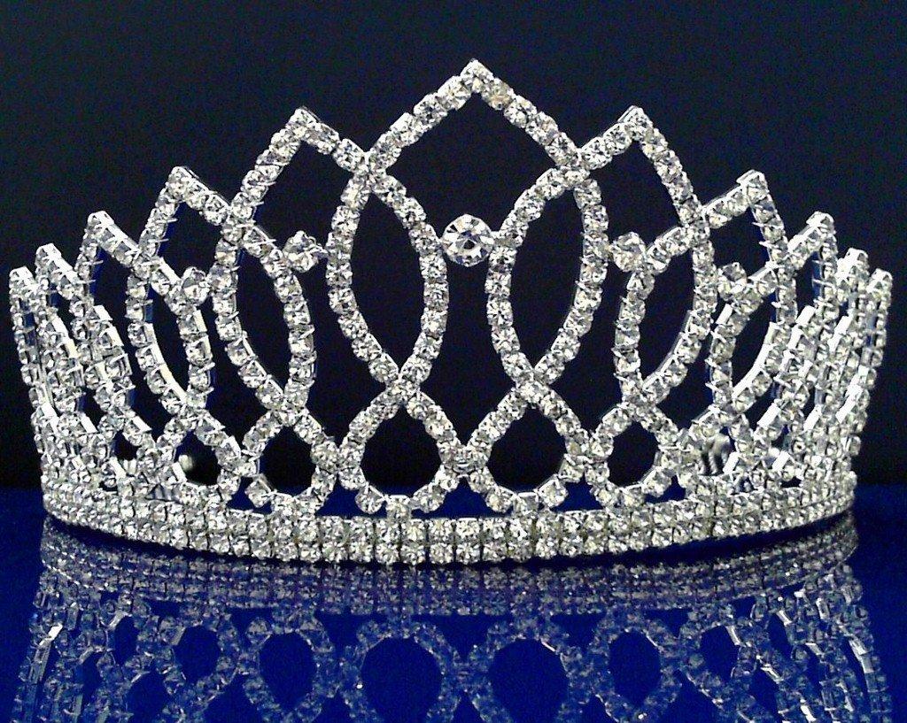 Alexandra - Elegant Rhinestone Crystal Bridal Wedding Tiara Crown by FiveStar Fabulous