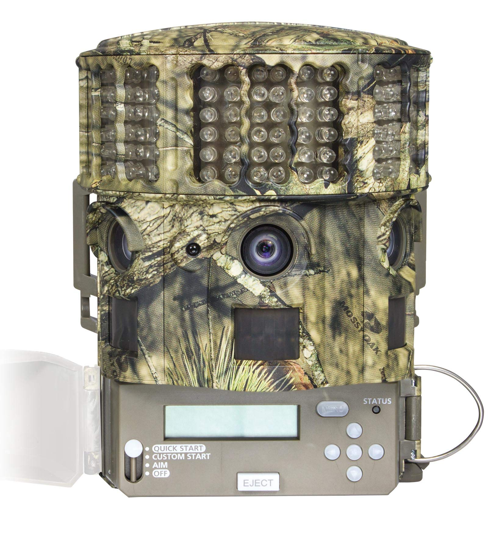 Moultrie No Glow 14MP Panoramic 180i IR Game Hunting Cameras (4) + SD Cards