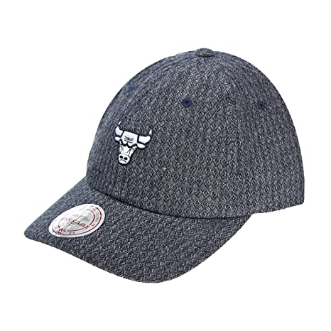 8280ee806c5 Mitchell And Ness Men s NBA Chicago Bulls Reverse Denim Slouch Strapback  Dad Hat