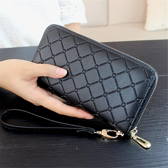 Amazon.com: spyman Nice NEW Female Wallet Women Purse Long Wallet Day Clutch Change Coin Card Bag Female Clutch Carteras Coffee: Shoes