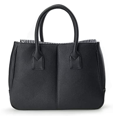 d65aa97e4c0 Hoxis Summer Colorful Basic Handbag Office Lady Minimalist Pebbled Faux  Leather Tote/Magnetic Snap Purse
