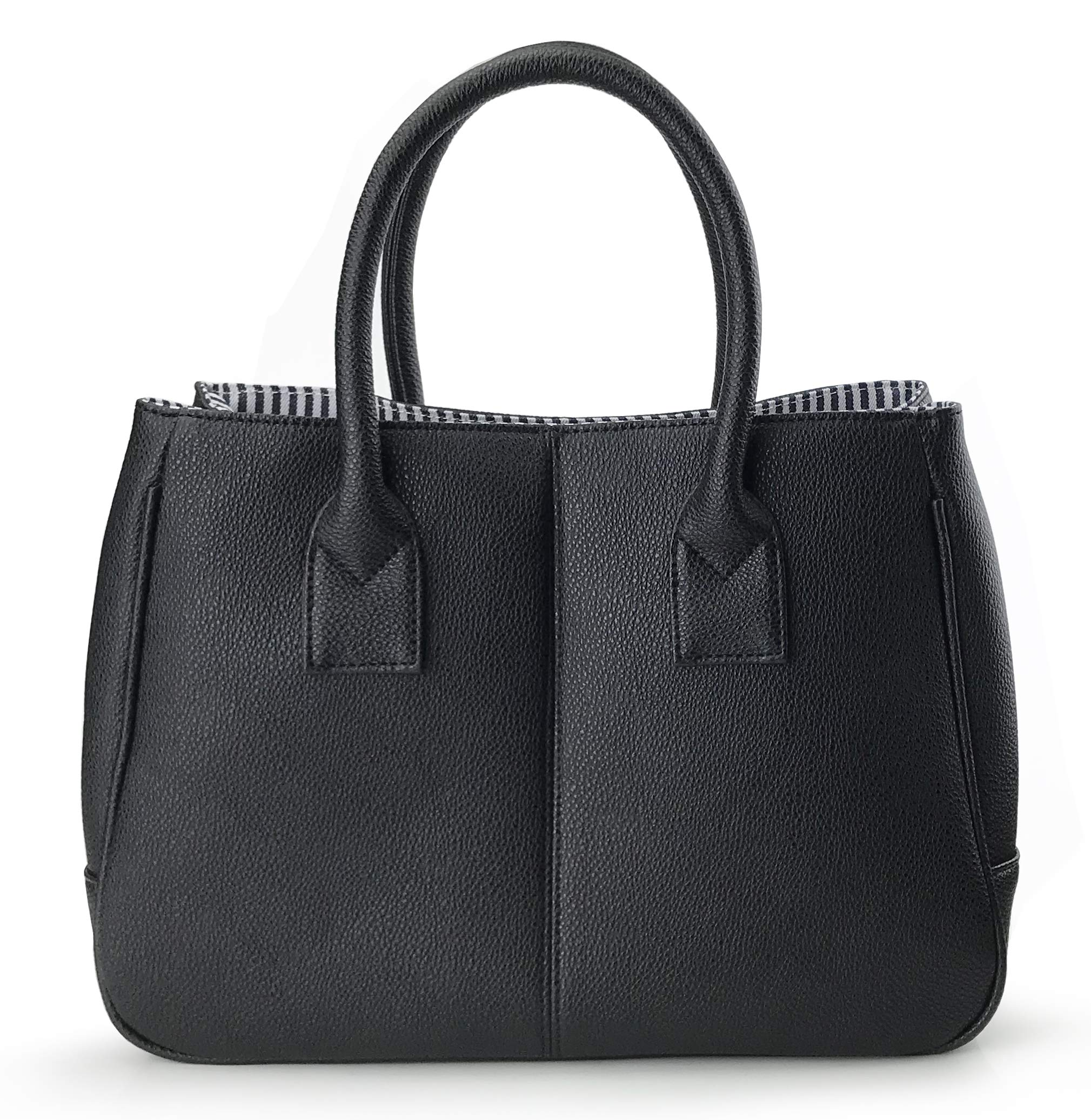 Hoxis Classical Office Lady Minimalist Pebbled Faux Leather Handbag Tote/Magnetic Snap Purse