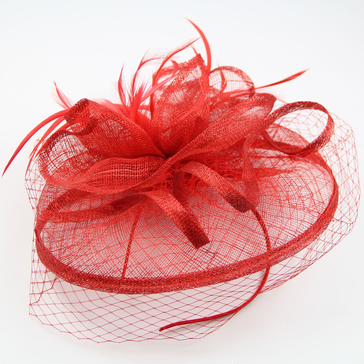 Cocktail Fashion Sinamay Fascinator Hat party pillbox has flower derby for women