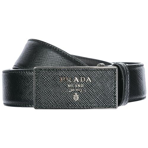 e1dace61b88cf Prada women's genuine leather belt black UK size 36 1C5717 053 F0S9C ...