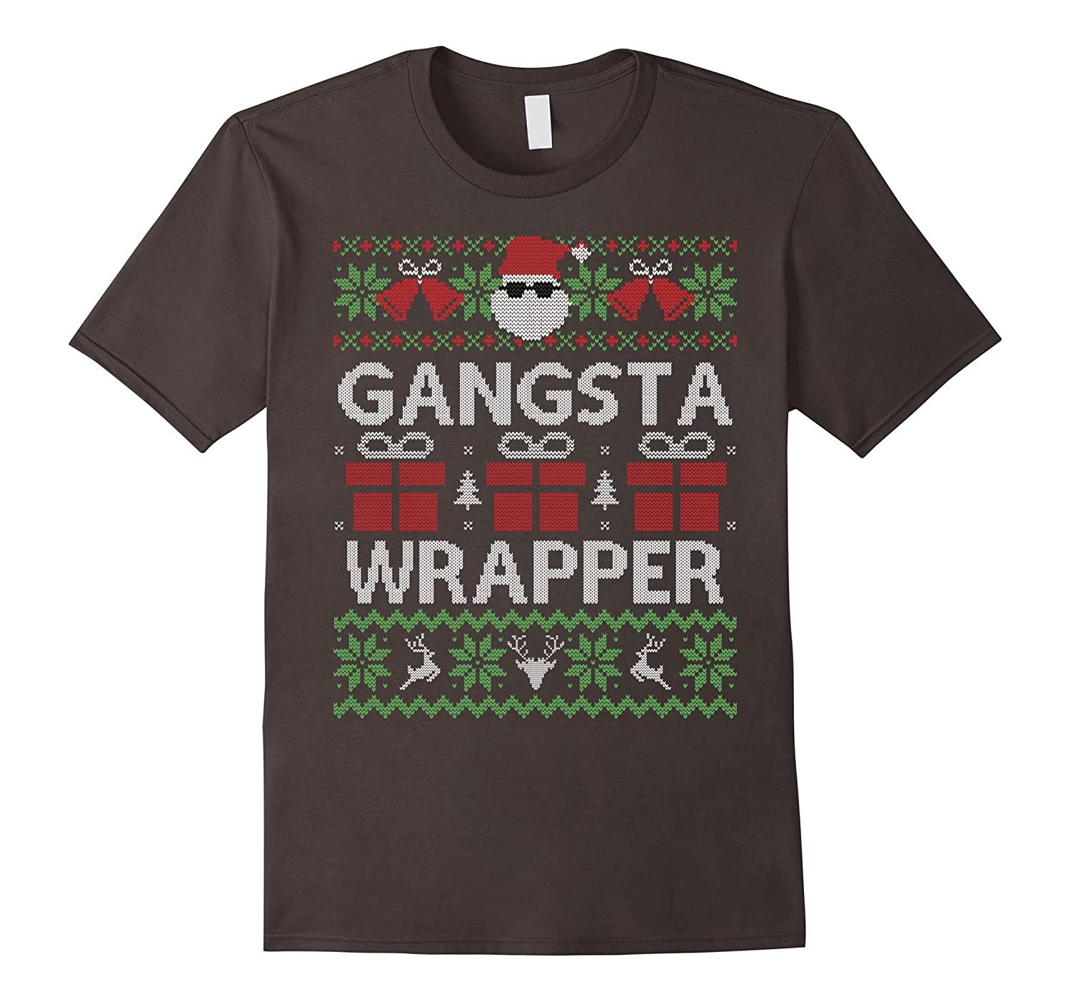 Funny Gangsta Wrapper Ugly Sweater Christmas Xmas Shirt Gift-FL