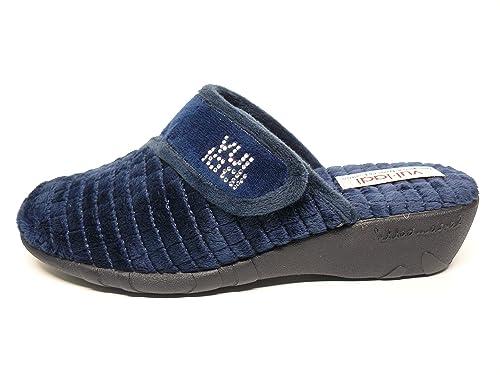 Vul-ladi Zapatilla Mujer para Andar por casa Invierno-Disponible Color Marron y Marino - 6903-3 2: Amazon.es: Zapatos y complementos