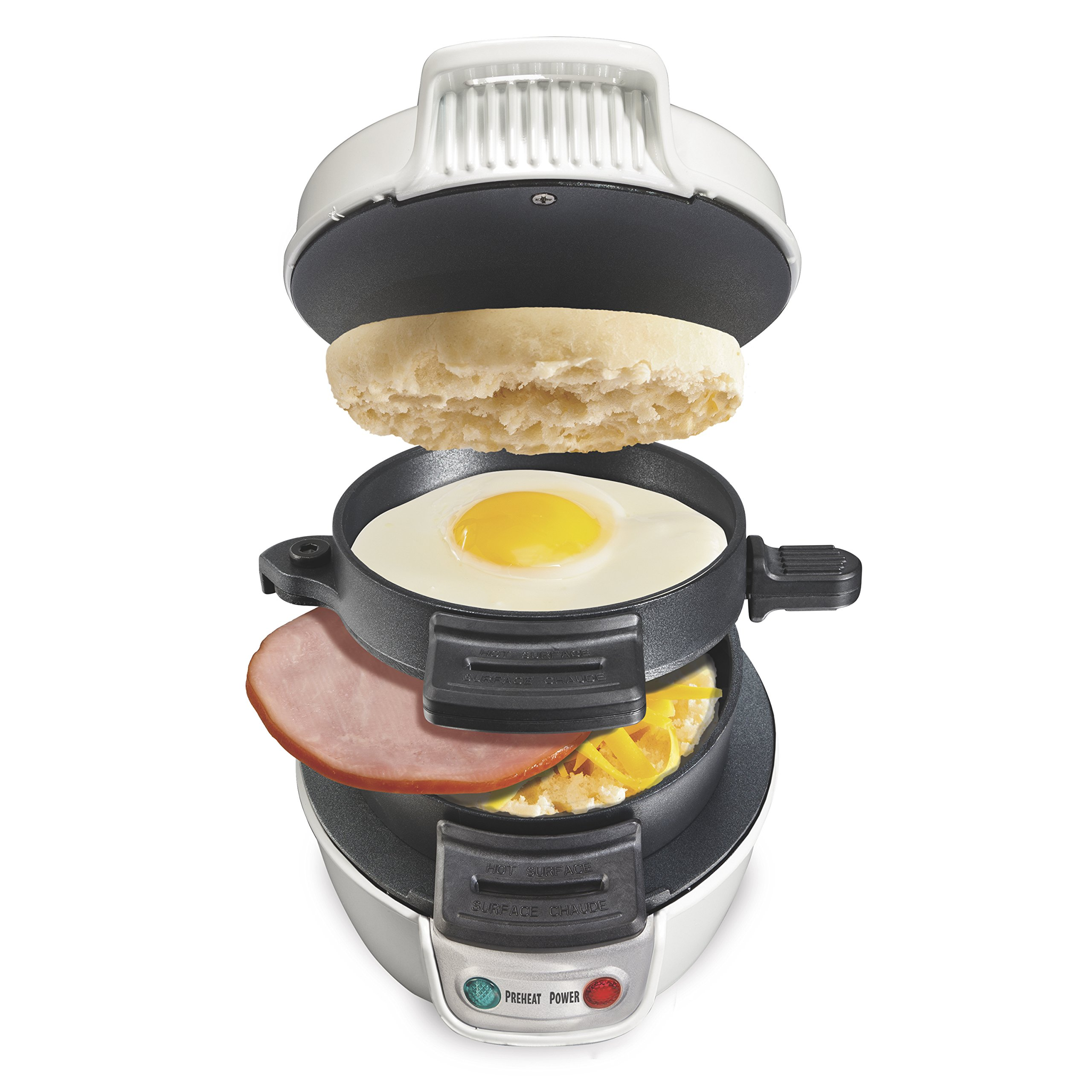 Proctor Silex 25479 Breakfast Sandwich Maker, White by Proctor Silex
