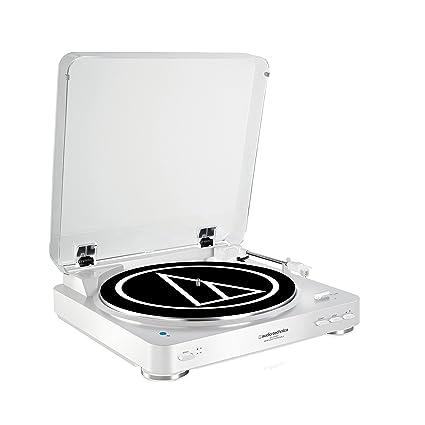 Audio Technica AT-LP60BTWH Color Blanco - Tocadiscos