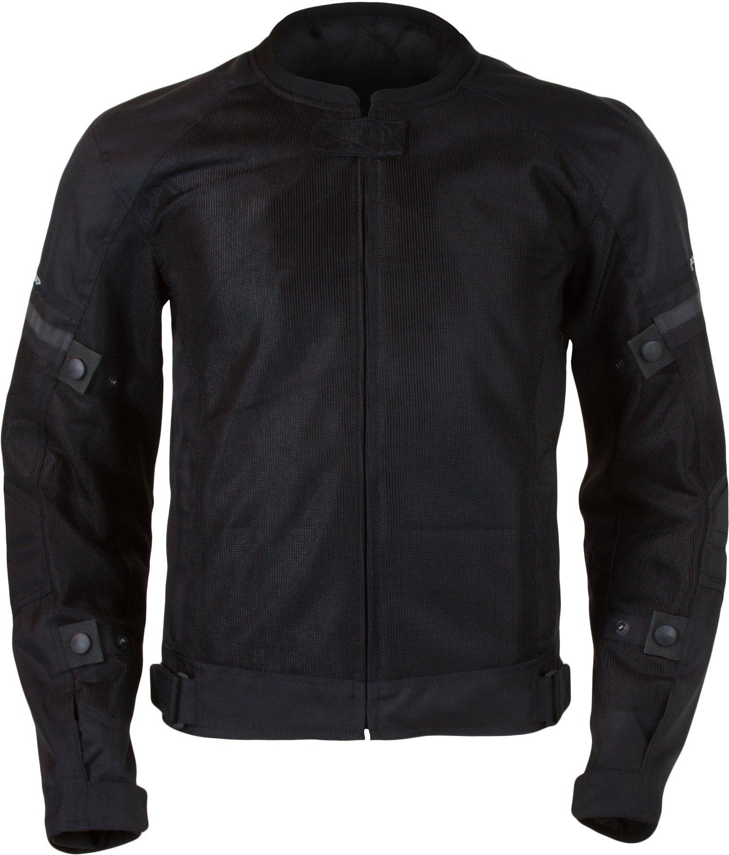 Pilot Motosport Men's Slate Air Jacket (Black, Medium)