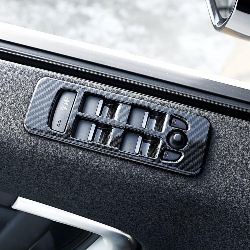 Carbon Oberfl/äche f/ür Discovery Sport ABS Fenster Lift Schalter Rahmen Rand Aufkleber 4