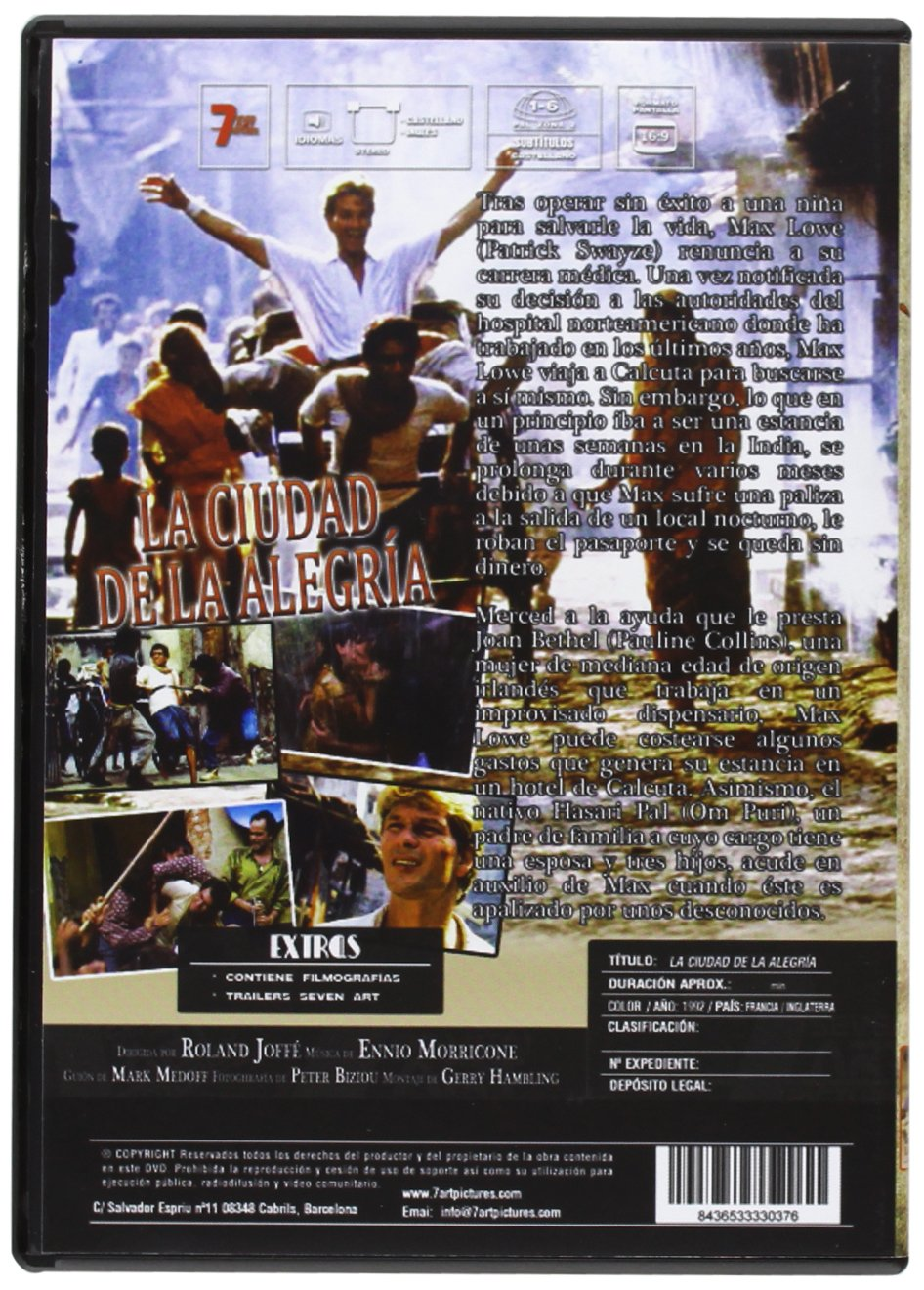 La Ciudad De La Alegría [DVD]: Amazon.es: Patrick Swayze, Pauline ...