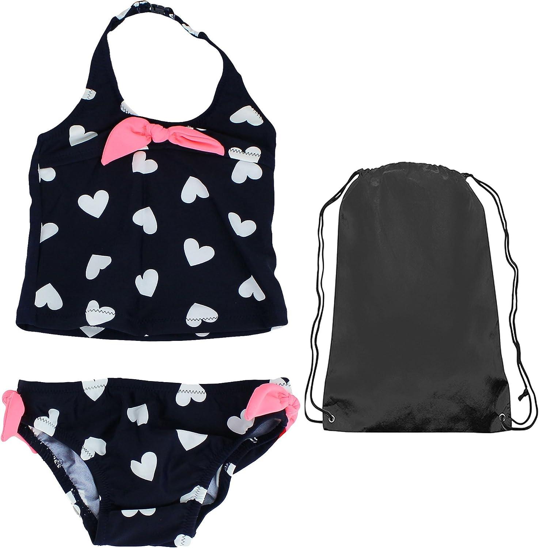 OshKosh Baby Heart Print with Ties Two Piece Tankini