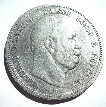 Orig Silbermünze 5 Mark 1876 B Preußen Wilhelm I Jäger Nr 97