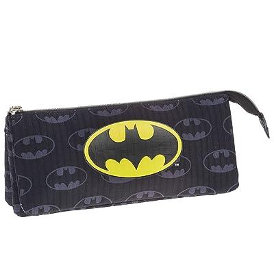 Batman- Estuche portatodo Triple, Color Negro, 22 cm (Karactermanía 33538): Juguetes y juegos
