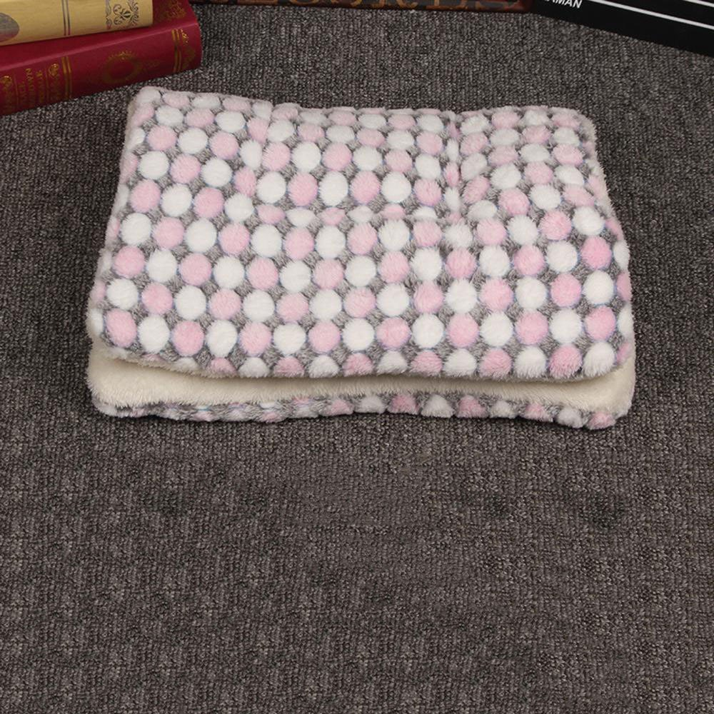 A 3037cmYunYilian Pet Bolster Dog Bed Comfort Pet Blanket Mat Warm cat Dog Universal seat mat (color   D, Size   57  74cm)