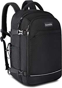 Asenlin 40L Business Travel Backpack,17 Inch Laptop Backpack Fit Flight Approved Water Resistant Computer Backpack Suitcase College Backpack for Men Women Black