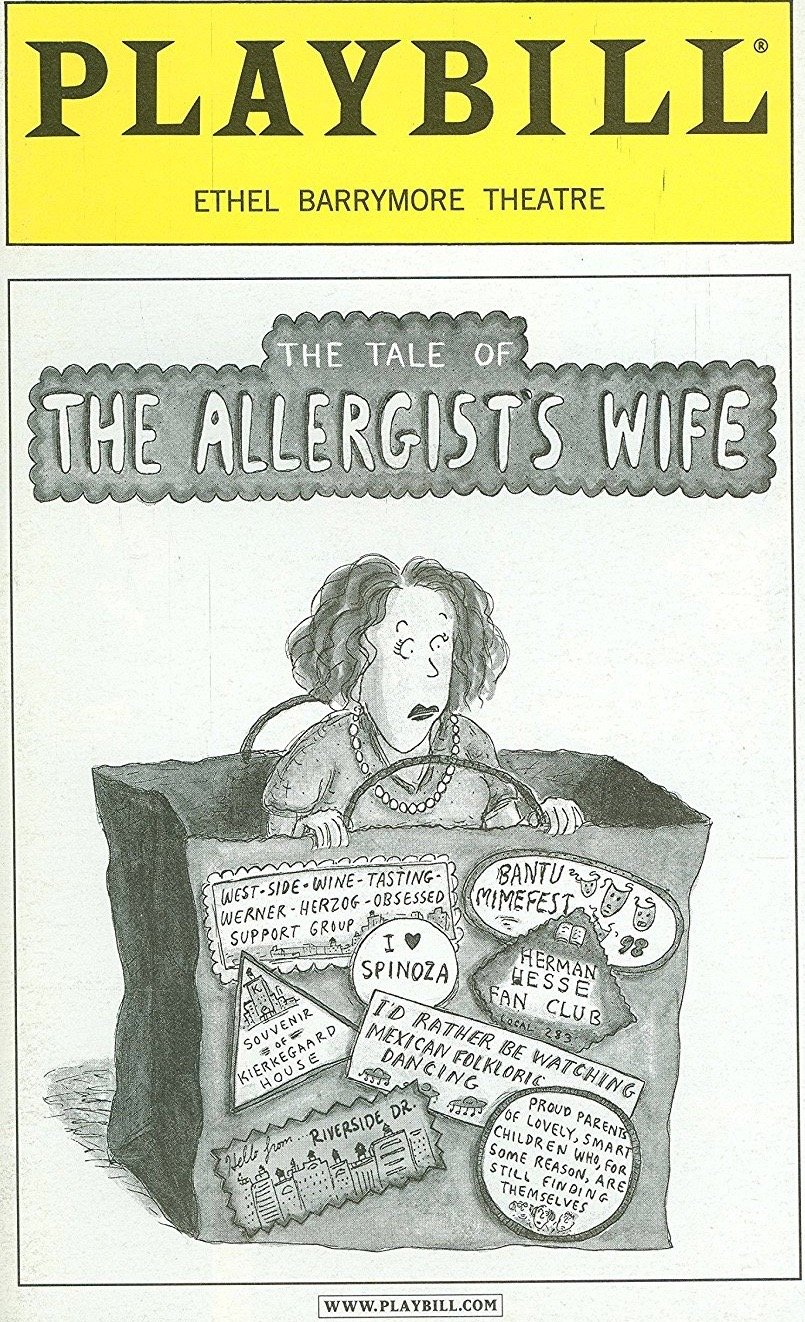 Brand New Playbill from The Tale of the Allergist's Wife starring, Linda Lavin Tony Roberts Michele Lee Shirl Bernheim Anil Kumar Written by Charles Busch Allergists