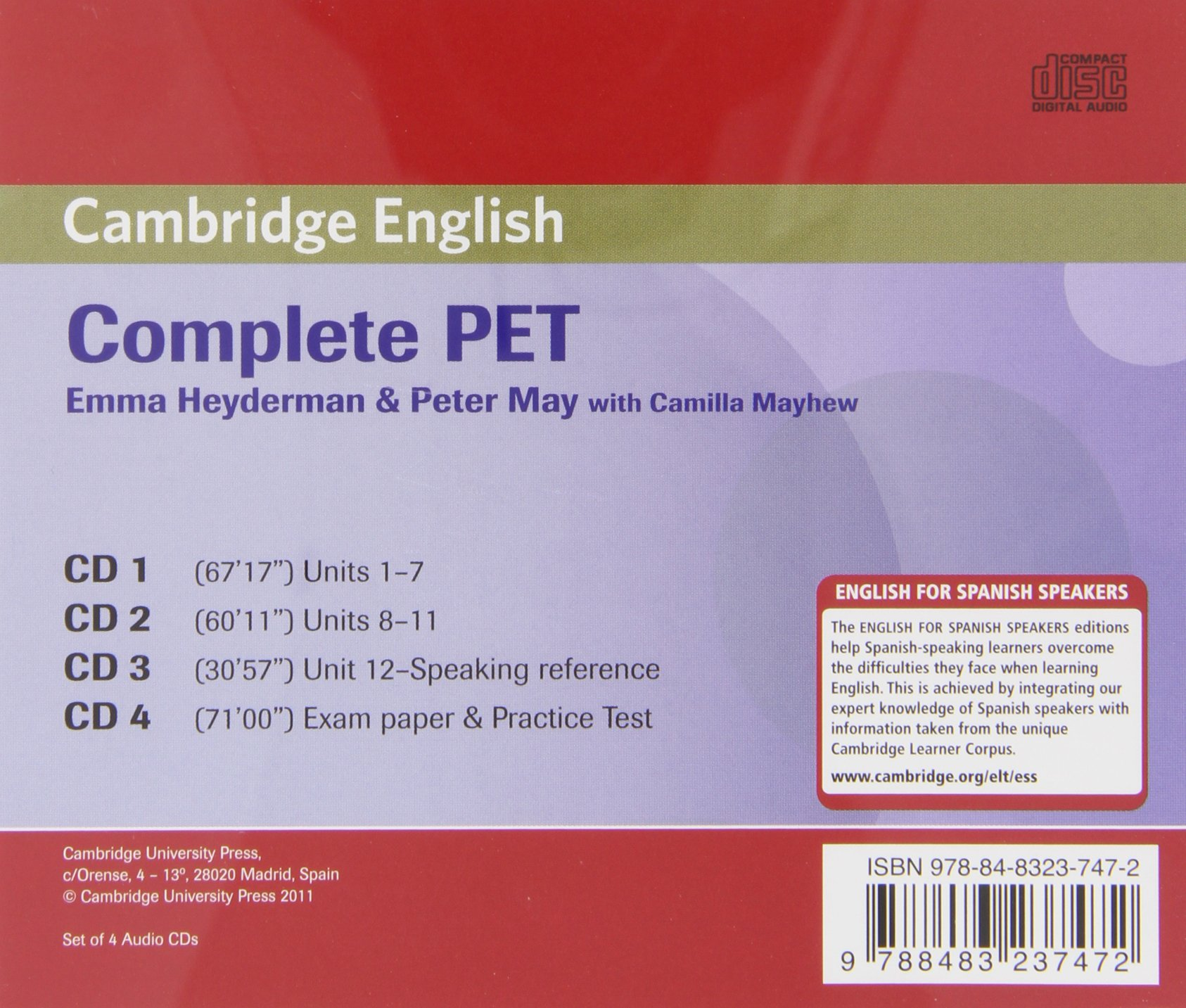 Buy Complete PET for Spanish Speakers Class Audio CDs (4) Book