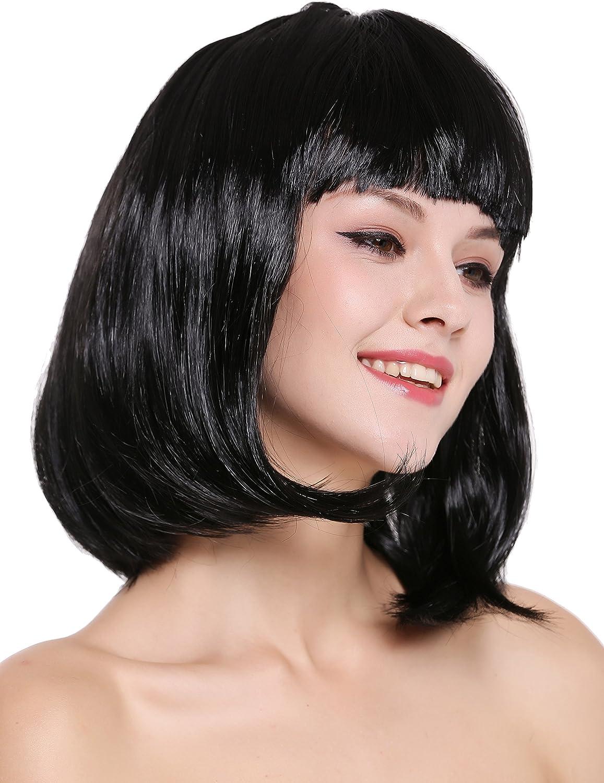 WIG ME UP ® - 0073-3-P103 Peluca Mujer Carnaval Halloween Disco ...