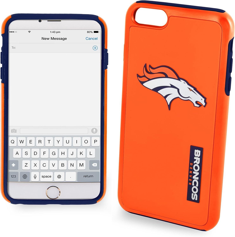 """FOCO NFL Denver Broncos Impact TPU 2-Piece Dual Hybrid iPhone 8 / iPhone 7 / iPhone 6 / iPhone 6s Case - 4.7"""" Screen ONLY"""