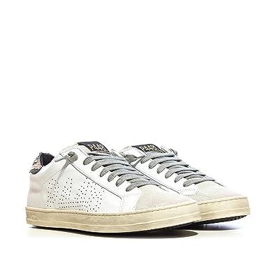 P448 , Chaussures de ville à lacets pour femme blanc Colore