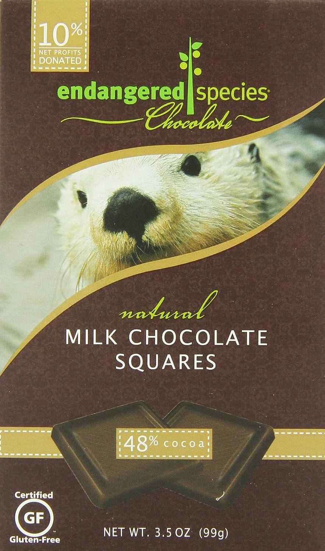 Amazon.com : Endangered Species Otter, Natural Milk Chocolate (48 ...