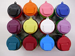 Beverage Budde Can Cover - Can Cover For Standard Size Soda/Beer/Energy Drink Cans - Made In The USA - BPA-PCB Free - Assort Colors (Plain - 12 Pack)