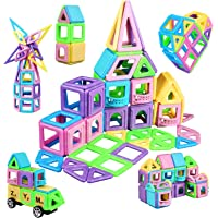 infinitoo Luminous 114 Piece Magnetic Building Blocks Castle Magnetic Toys Magnet Tiles Gift, Magnetics Construction…