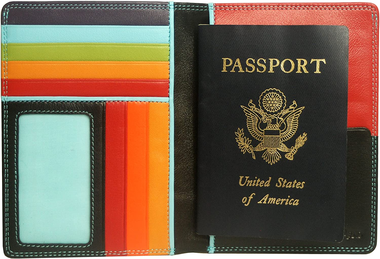 Black Leather Passport Cover Color