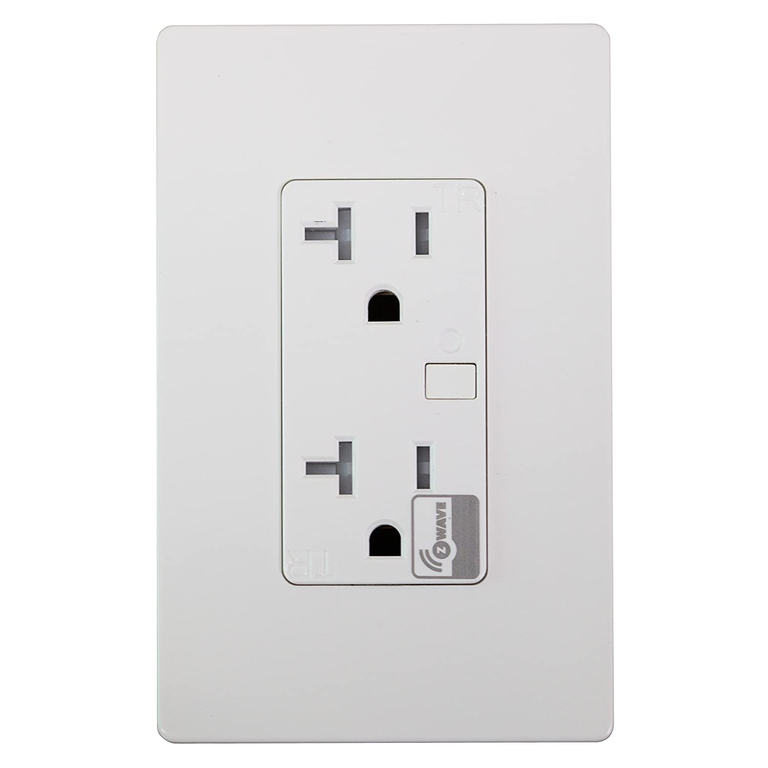 Enerwave ZW20R-W Z-Wave Wireless Control Outlet, Tamper Resistant ...